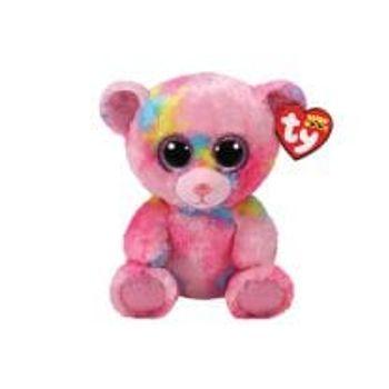 Λούτρινο Αρκουδάκι Ροζ 15cm TY Beanie Boos