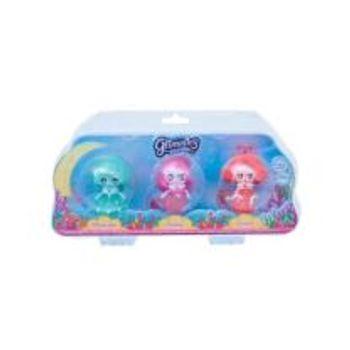 Σετ 3 Μίνι Κούκλες Glimmies Aquaria