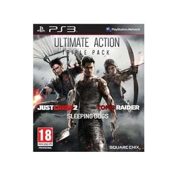 Ultimate Action Pack (Just Cause 2 & Sleeping Dogs & Tomb Raider) – PS3 Game