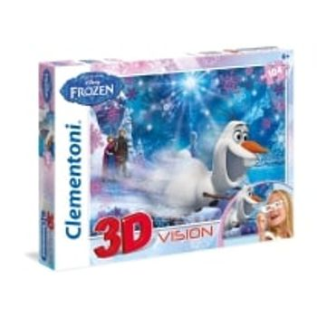 3D Παζλ Frozen Super Color Disney (104 Κομμάτια)