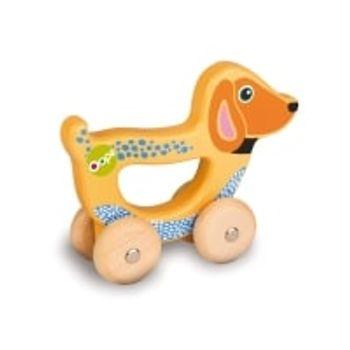 Ξύλινο Όχημα με Λαβή Σκυλάκι Easy-Go Oops