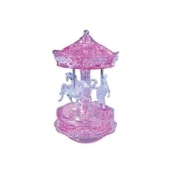 3D Παζλ Καρουσέλ Ροζ