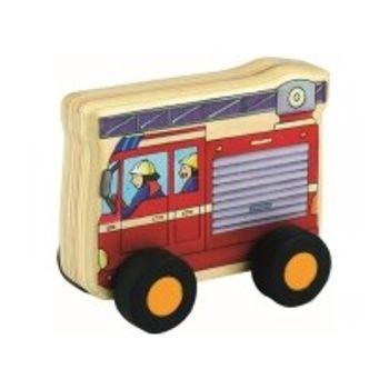 Ξύλινο Πυροσβεστικό Όχημα