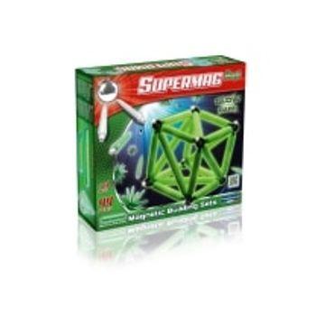 Σετ Κατασκευής Glow in The Dark Supermag Maxi Magnetic Building Sets (44 κομμάτια)