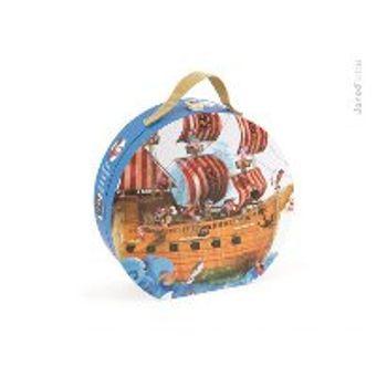 Ξύλινο Παζλ Πειρατικό Καράβι Δαπέδου Janod