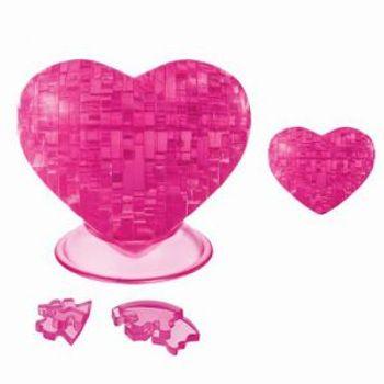3D Παζλ Καρδιά Ροζ