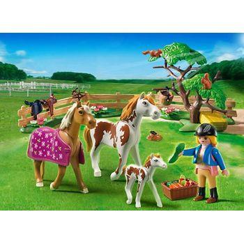 PLAYMOBIL 5227 Περίφραξη με Άλογα και Πουλάρι