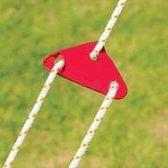 [凱溢露營用品] 大號 7.5cm鋁合金 三角 營繩 調節片 繩扣 風繩扣 調節扣 COLEMAN SP