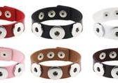 龐克 簡約 時尚 鈕扣 手環 手鏈 PU皮革 OL/生日禮物/男女禮物/情人節禮物/首飾配件 交換禮物