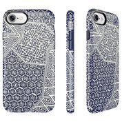Speck Presidio Inked iPhone 7 纖薄防摔保護殼-靛藍色絞染圖案