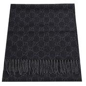 GUCCI 經典雙G-LOGO百分百喀什米爾羊毛圍巾