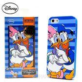 【唐老鴨與黛西愛的擁抱】日本進口Disney iphone5 3D立體感軟式手機背蓋