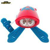 英國MINI HORNIT 蜜蜂燈鈴鐺-自行車/滑板車嬰兒推車用LED車前燈+電子喇叭-紅藍