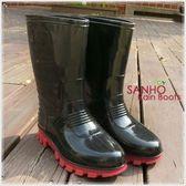 【Sanho】優雅式長雨靴(率性黑)