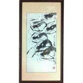 馬壽三大師-水墨蝦蟹限量典藏畫作直式
