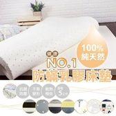 【AndyBedding】100%天然乳膠防蹣床墊-雙人加大6尺(床墊、雙人加大床墊、乳膠床墊、天然、防)