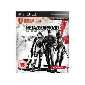 Metal Gear Solid 4: Guns of the patriots – 25th anniversary – PS3 Game