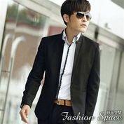 時尚空間 渴望魅力顛覆美學設計立領單扣西裝外套【625】極窄短版