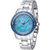 SEIKO Sportura 天使的眼淚人動電能腕錶-湖水藍/36mm(SKA873P1)