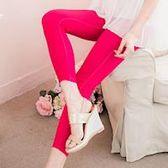 【lingling】全尺碼-彈性修身口袋窄管內搭褲(蜜桃紅)A1295-11