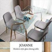 【H&D】喬安現代風簡約玻璃餐桌/Joanne