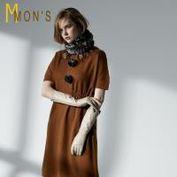 MONS法式喀什米爾貴氣修身羊毛洋裝/長上衣