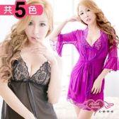 天使霓裳 性感睡衣 性感薄紗外罩睡衣組(共3色)-SK21354