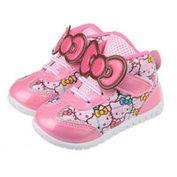 布布童鞋 HelloKitty凱蒂貓壓紋卡通印花中筒粉色休閒鞋 [ CD6820G] 粉紅款