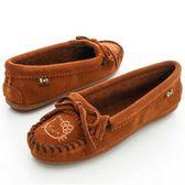 MINNETONKA KITTY聯名 棕色 莫卡辛平底鞋-602K