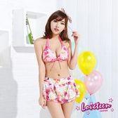 【LOVETEEN夏之戀】浪漫花卉比基尼三件式泳衣A15715