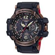 【CASIO】G-SHOCK世界首款同步搭載高性能GPS電波錶-黑X古銅 (GPW-1000RG-1)