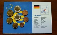 2002 GERMANY 8 Coin Uncirculated Euro SET 2  1  50 20 10  5  2  1 Cents Under 50