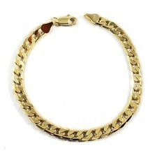 Mens 18K Yellow Gold Plated 8in Cuban Link Bracelet 47 MM On Line