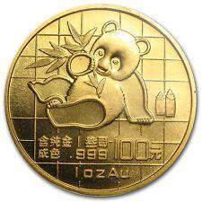 Affordable 1989 China 1 oz Gold Panda Small Date BU Sealed  SKU 8964