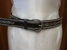 Buy LIZ CLAIBORNGenuine leather Belt  Buckle BrownSilver Womens Size M NWT Online