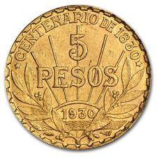 Uruguay 1930 5 Peso Gold Coin 2501 oz  AU or BU  SKU 14243 On Line