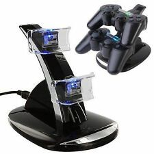 Affordable PlayStation PS3 Dual Controller LED Charger Dock Station USB Fast Charging Stand