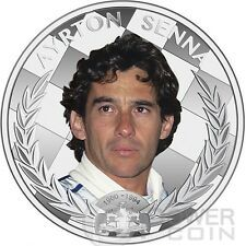 Buy AYRTON SENNA Formula One World Champion Anniversary 1oz Silver Coin 2 Niue 2014 with Paypal