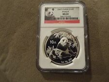 Low Cost 2007 SILVER PANDA CHINA S10Y 1oz  NGC MS69 NICE