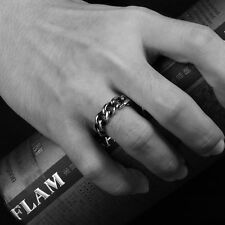 US 8 Fashion Punk Mens Silver Stainless Steel Biker Moto Ring Wedding Band Compare Prices