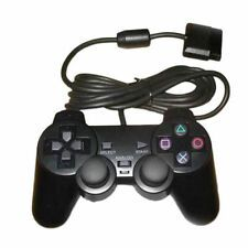 SALE New BLACK PS2 Shock Controller Sony PlayStation 2 Dual Vibration Gamepad