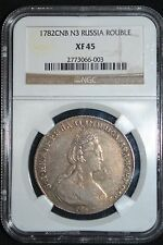 Best Reviews 1782 Russian Impire Silver Coin One 1 Rouble  Ruble NGC XF45 Russia