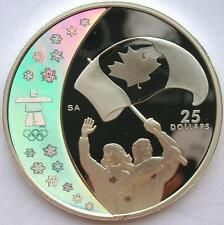 Canada 2007 Flag 25 Dollars 1oz Colour Silver CoinProof for Sale