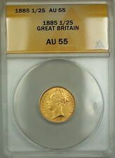 Promo Offer 1885 Great Britain 12S Half Sovereign Gold Coin ANACS AU55 Scarce