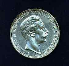 GERMANY   GERMAN STATES  PRUSSIA  1912A   3 MARK   UNCIRCULATED SILVER COIN Best Price