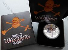 Best Reviews Tuvalu 2010 1 Great Warriors Knight 1 Oz Proof Silver Coin
