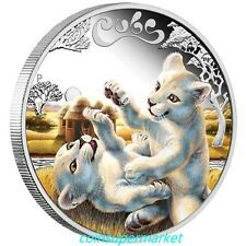 Big SALE 2016 Australia The Cubs  White Lion 12oz Silver Proof Coin Perth Mint OGP