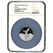 Bargain Mexican Libertad 2 oz Proof Silver Coin Mexico 2015 NGC PF69