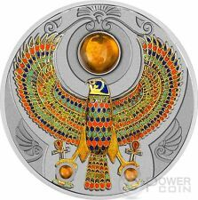 Low Price FALCON OF TUTANKHAMUN Horus Amber 2 Oz Silver Coin 2 Niue 2017