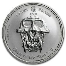 Best Savings for 2016 Republic Of Palau  Year Of The Monkey  1 oz Silver BU Lunar Skulls Coin